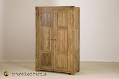 Boston Oak Wardrobe - 2 Door Ladies