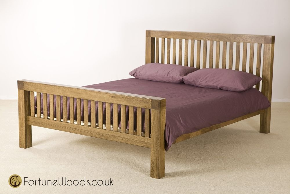 Boston Oak Bed - 4ft 6in Double