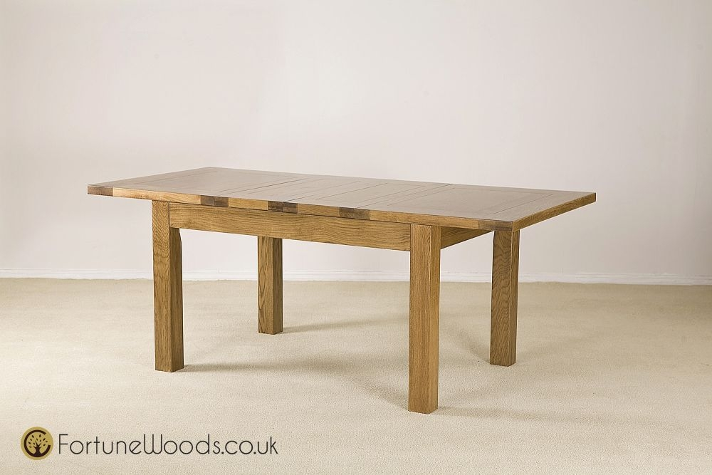 Boston Oak Dining Table - 4ft 6in Extending with 2 Leaves