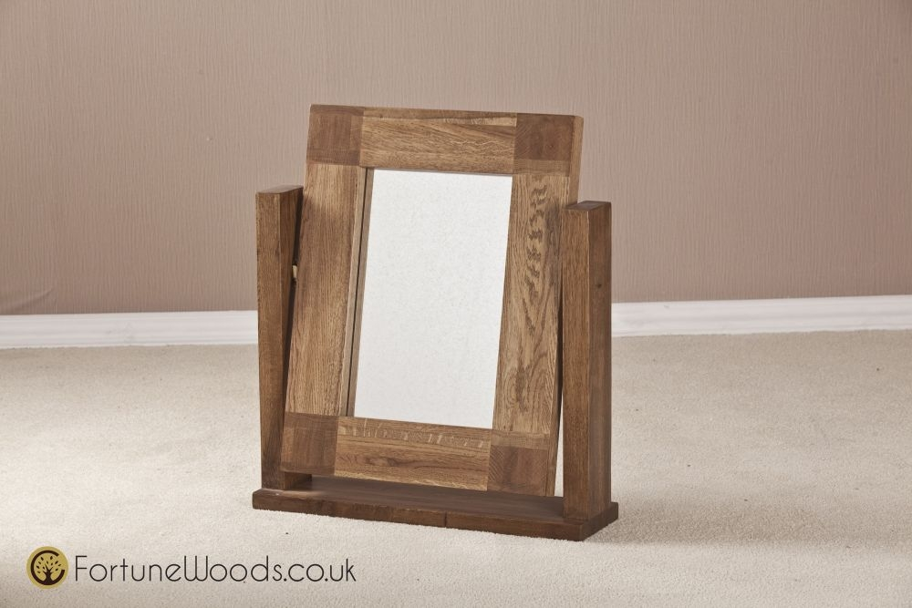 Boston Oak Dressing Mirror