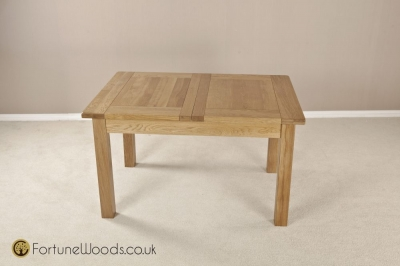 Cotswold Oak Dining Table - 4ft 6in Extending with 2 Leaf