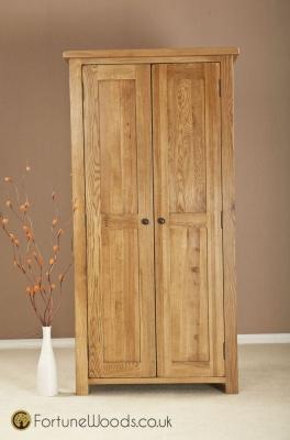 Cotswold Oak Wardrobe - 2 Door Ladies
