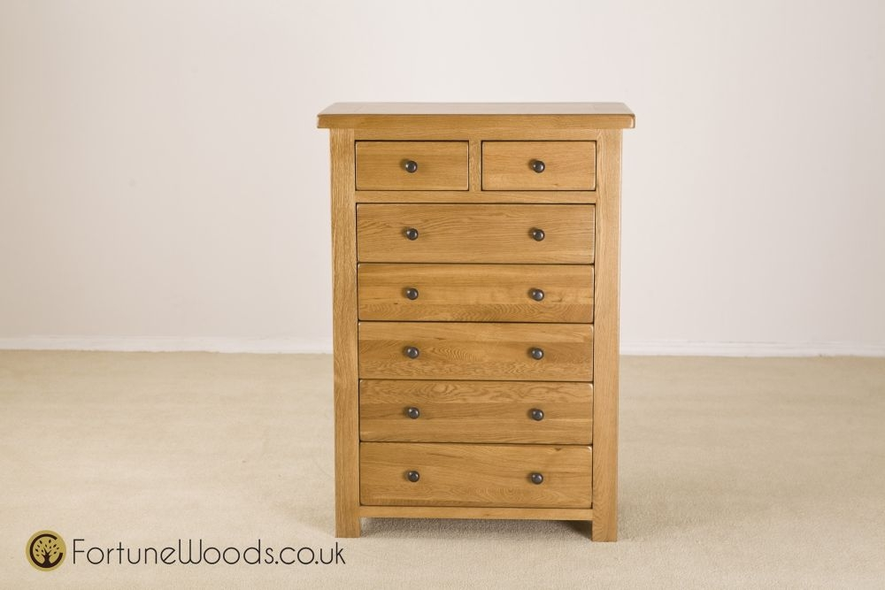 Cotswold Oak Chest of Drawer - 5+2 Drawer