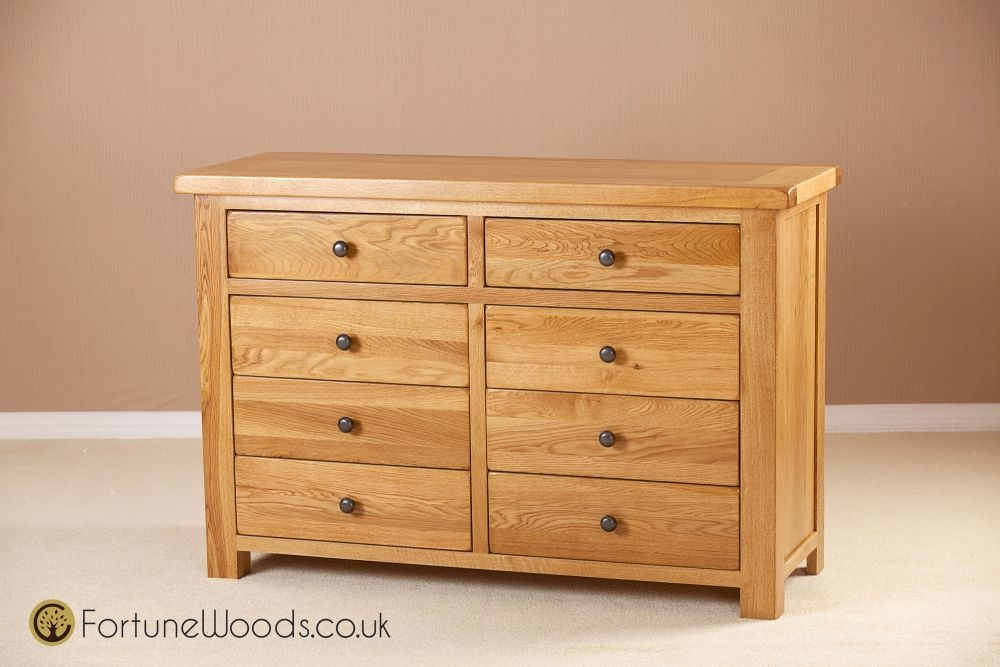 Cotswold Oak Chest of Drawer - 8 Drawer Combination