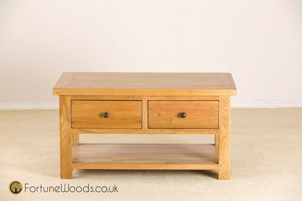 Cotswold Oak Coffee Table - 2 Drawer