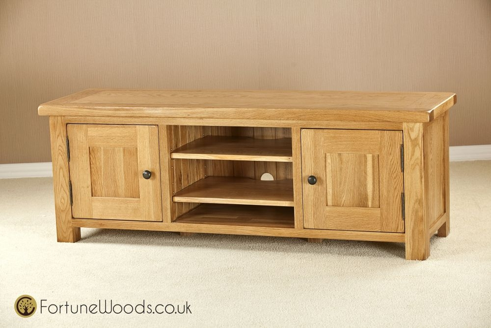 Cotswold Oak TV Unit - Long