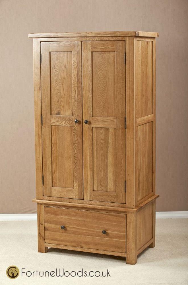 Cotswold Oak Wardrobe - 2 Door 1 Drawer Gents