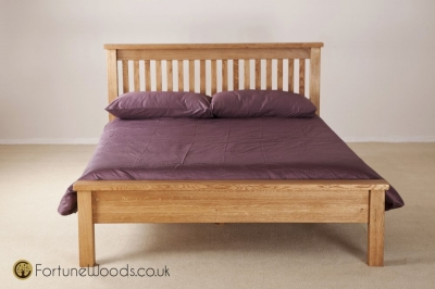Country Oak Bed - Low Foot End