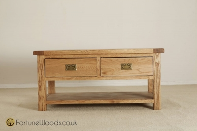 Country Oak Coffee Table with Drawer