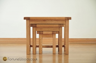 Country Oak Nest of Tables - Small
