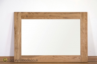 Country Oak Rectangular Wall Mirror - 130cm x 90cm