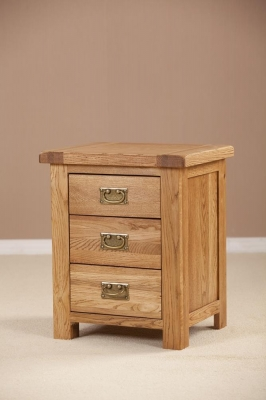 Country Oak Drawer Bedside Cabinet