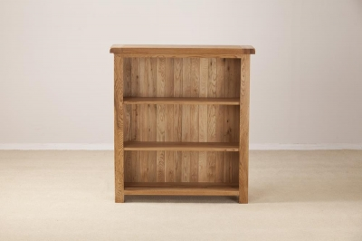 Country Oak Low Wide Bookcase