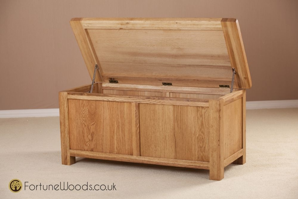 Country Oak Blanket Box - Large