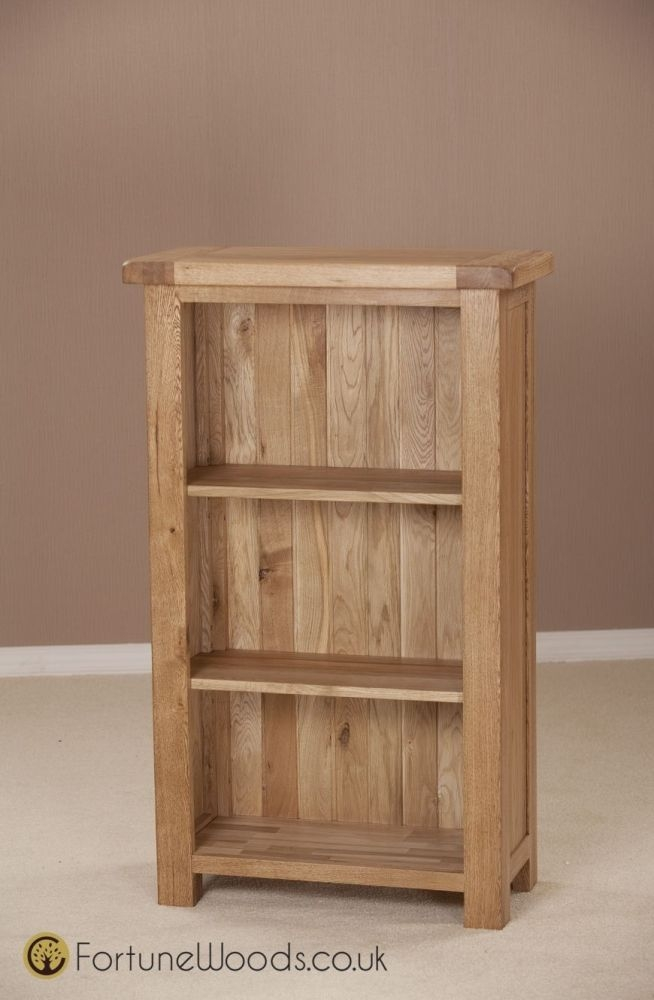 Country Oak Bookcase - 3ft Narrow