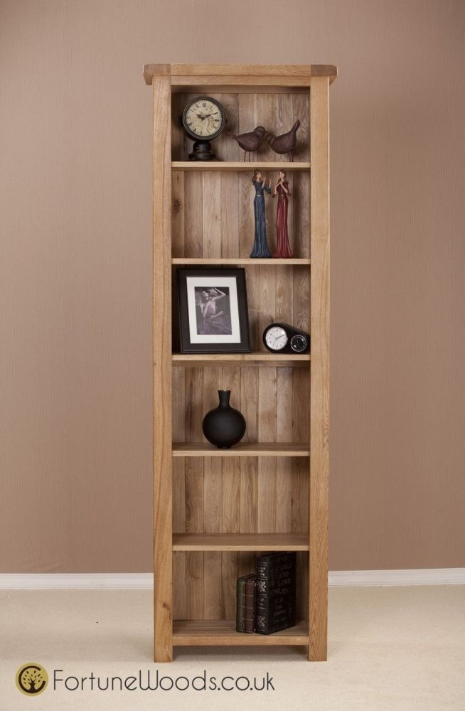 Country Oak Bookcase - 6ft Narrow
