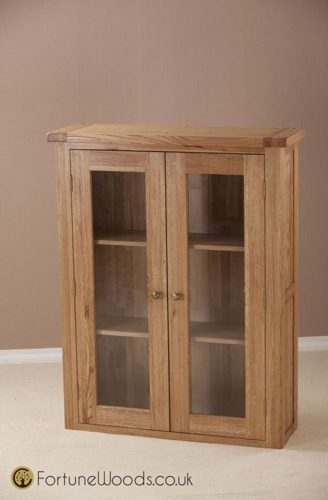 Country Oak Dresser Top - 3ft Glass Door