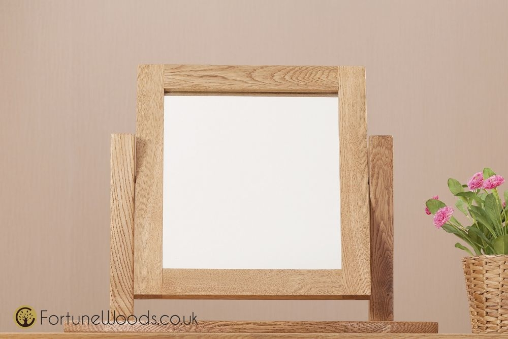 Country Oak Dressing Mirror