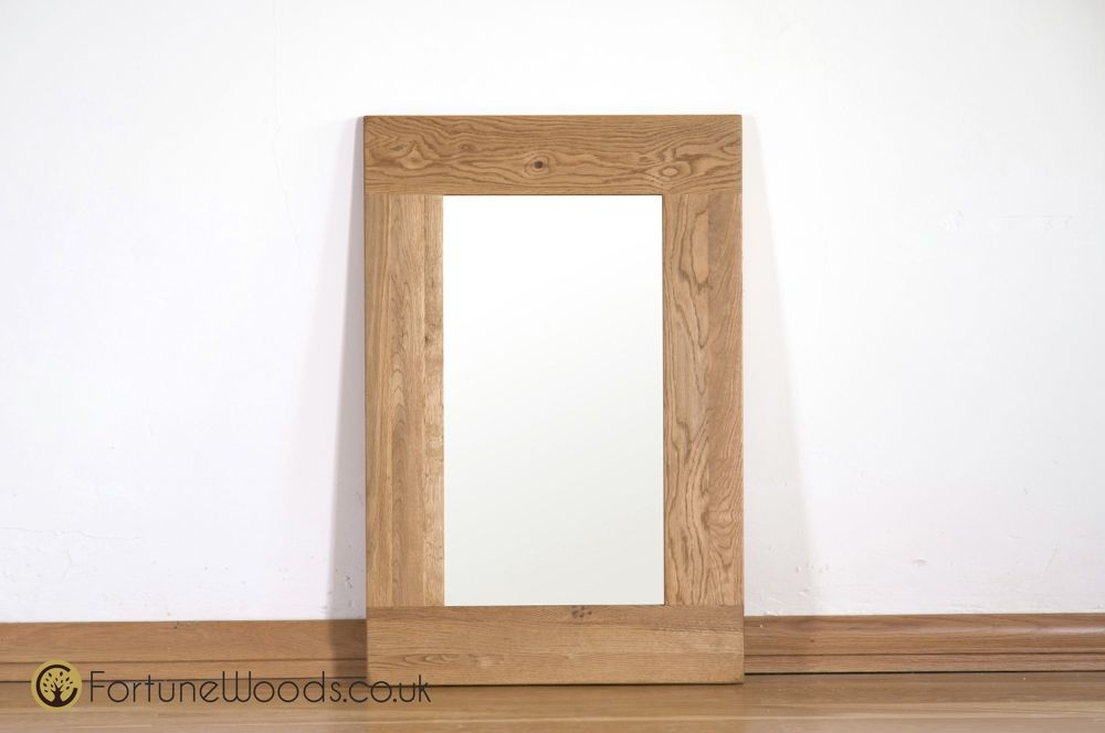 Country Solid Oak Wall Mirror - 90cm