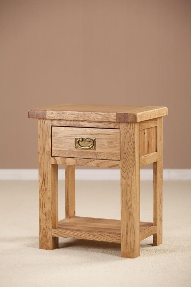 Country Solid Oak 1 Drawer Bedside Table
