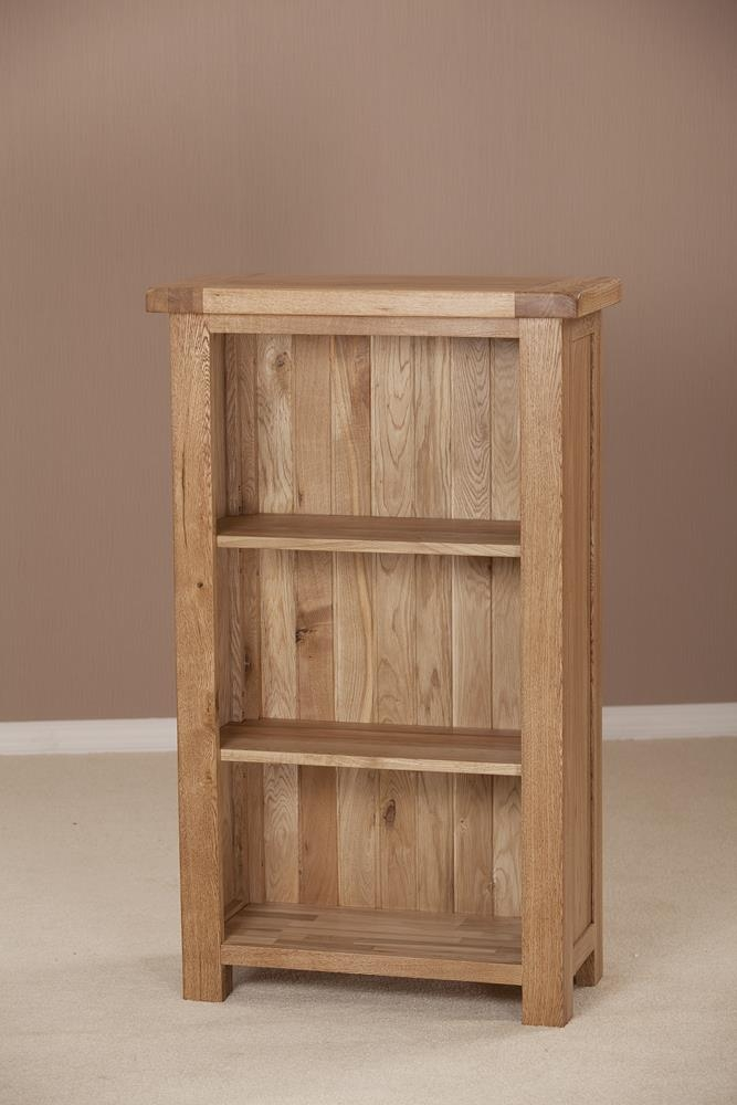 Country Solid Oak Bookcase - 3ft Narrow