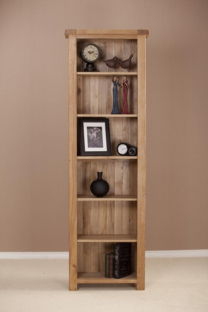 Country Solid Oak 6ft Narrow Bookcase
