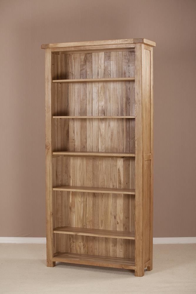 Country Solid Oak Bookcase - 6ft Wide