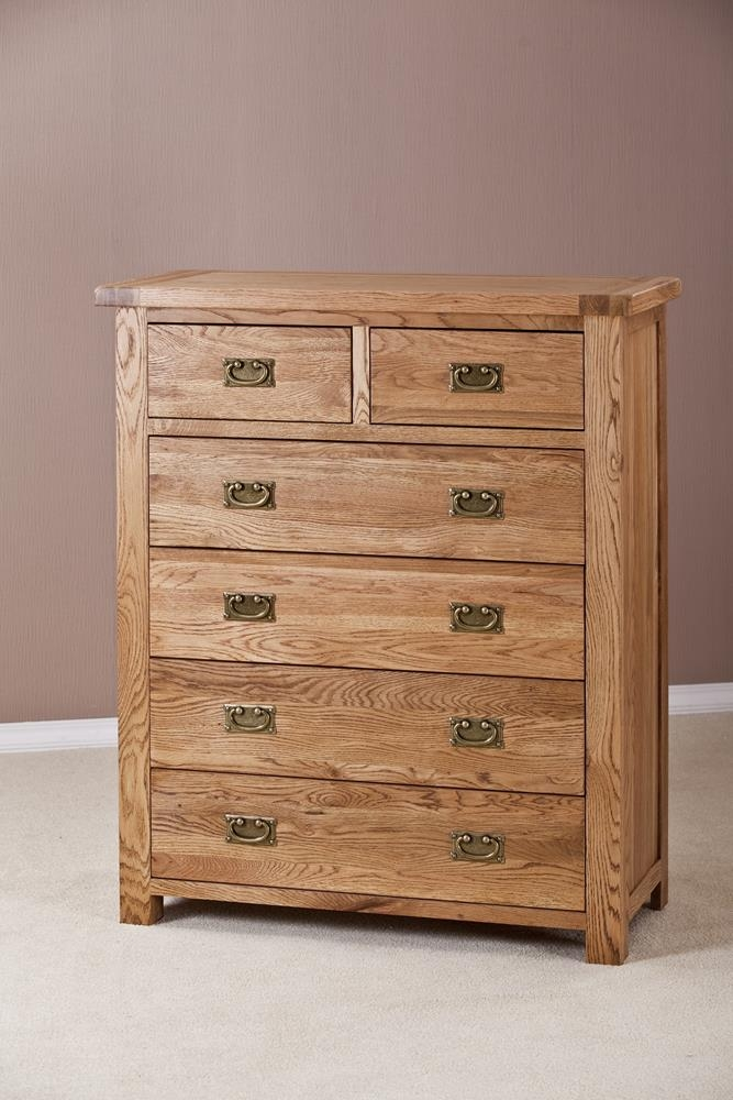 Country Solid Oak 4+2 Drawer Chest