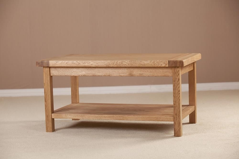 Country Solid Oak Coffee Table