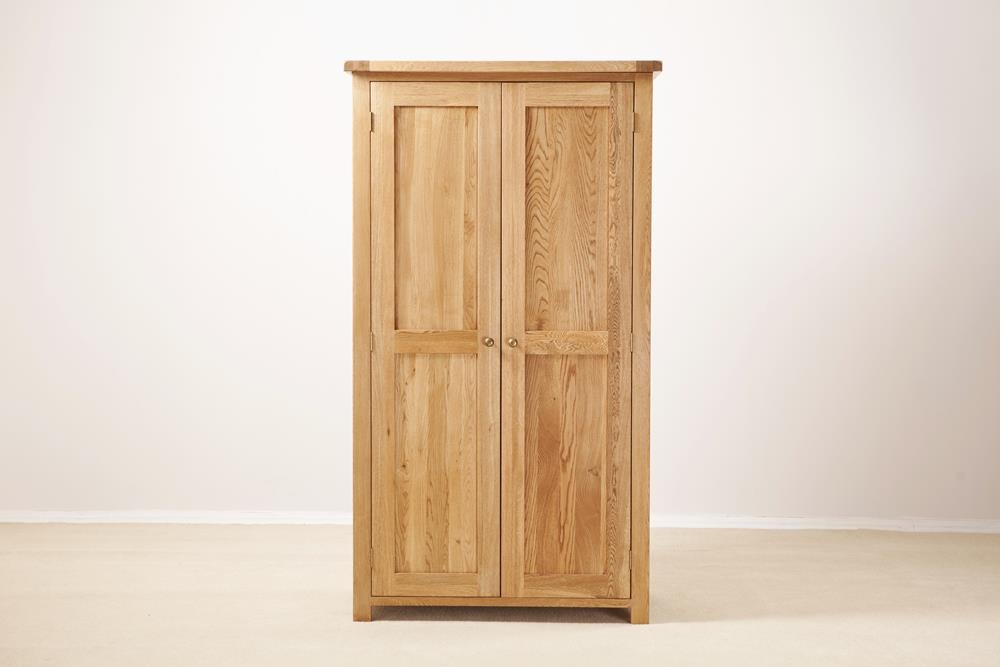 Country Solid Oak 2 Door Double Wardrobe