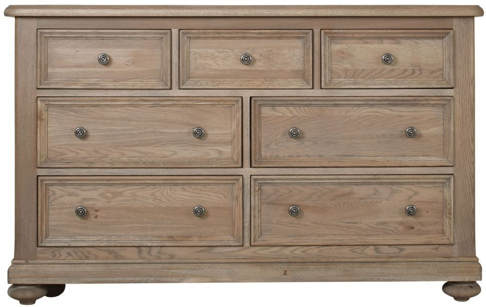 Hunter Smoked Oak Chest of Drawer - 3+4 Drawer