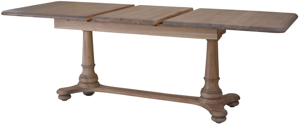 Hunter Smoked Oak Dining Table - 165cm-215cm Rectangular Extending