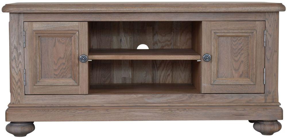 Hunter Smoked Oak Standard TV Cabinet - 2 Door
