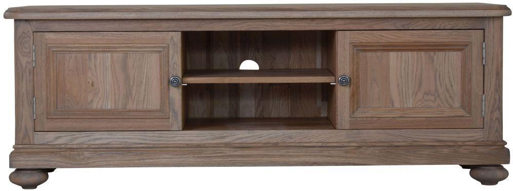 Hunter Smoked Oak TV Cabinet - Large 2 Door
