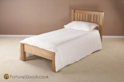 Milano Oak Bed - 3ft Single Low Foot End