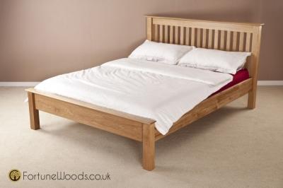 Milano Oak Bed - Low Foot End