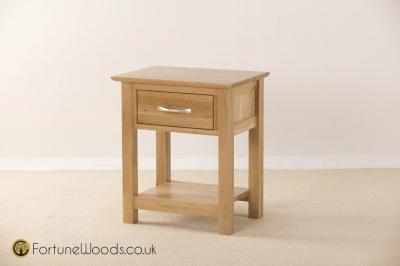 Milano Oak Bedside Table - 1 Drawer