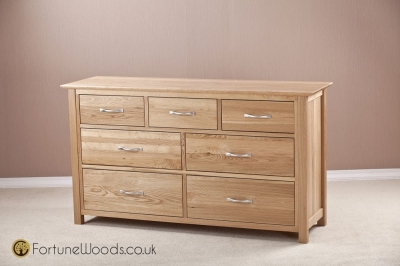 Milano Oak Chest of Drawer - 3 Over 4 Drawer