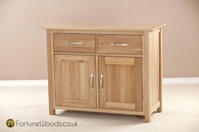 Milano Oak Dresser Base - 3ft