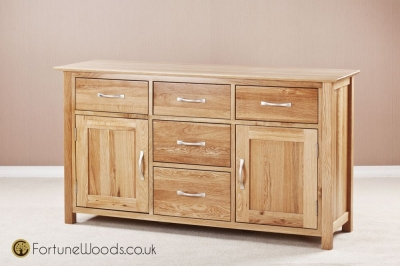 Milano Oak Dresser Base - 4ft 6in