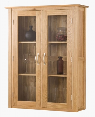 Milano Oak Dresser Top - 3ft Glass Door