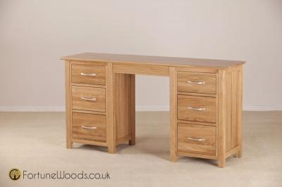 Milano Oak Dressing Table - Double Pedestal