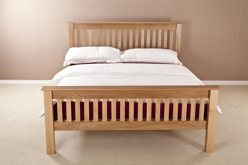 Milano Solid Oak High Foot End Bed