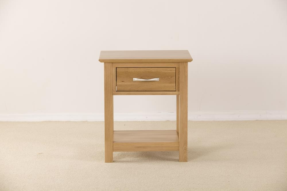 Milano Solid Oak 1 Drawer Bedside Table