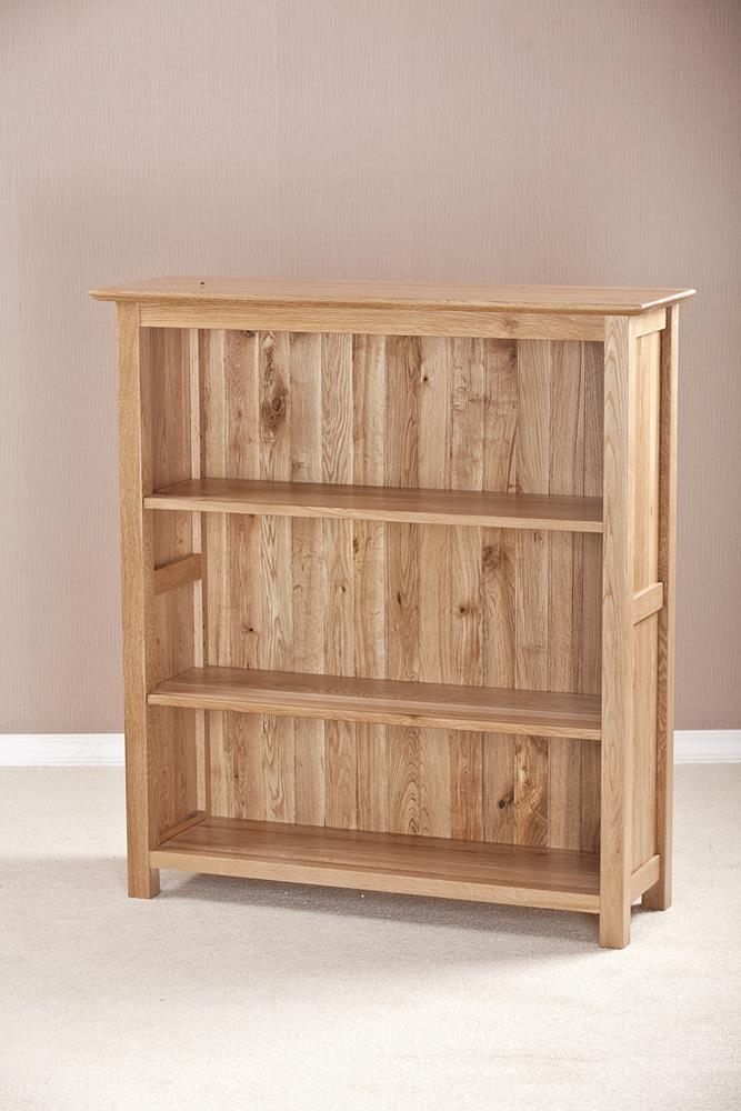 Milano Solid Oak Wide 3ft Bookcase