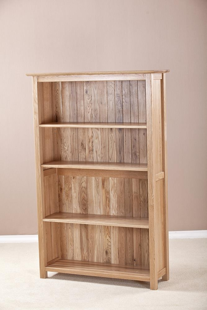 Milano Oak Wide Bookcase