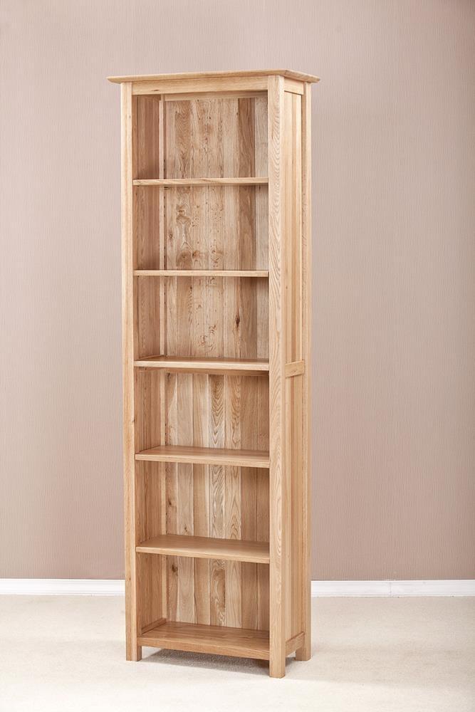 Milano Solid Oak Narrow 6ft Bookcase