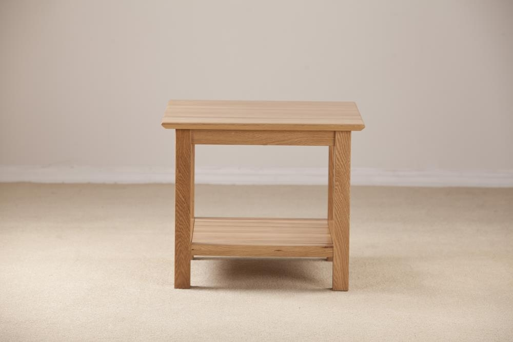 Milano Solid Oak Coffee Table - 53cm