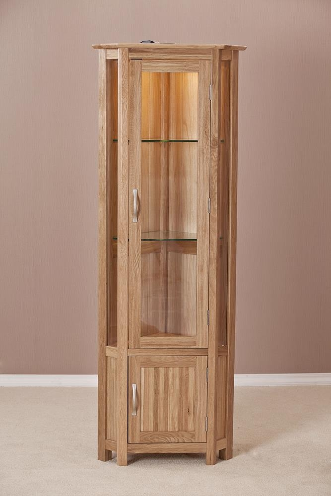 Milano Oak Corner Display Cabinet