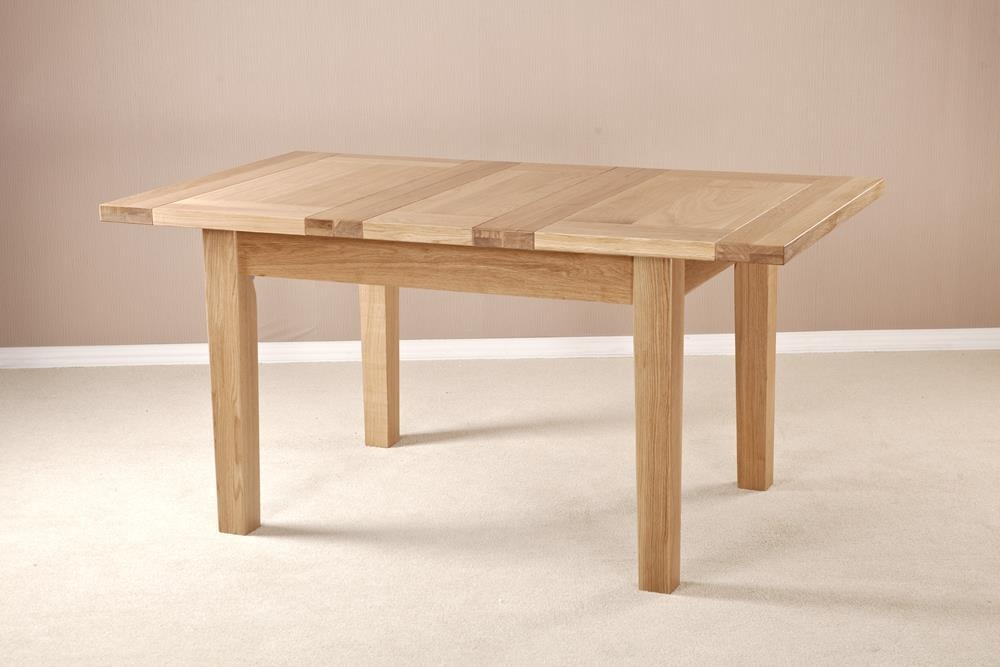 Milano Solid Oak Dining Table - 120cm-160cm Rectangular Extending with 1 Leaf
